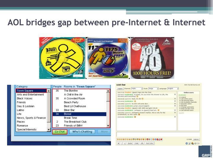 AOL bridges gap between pre-Internet & Internet