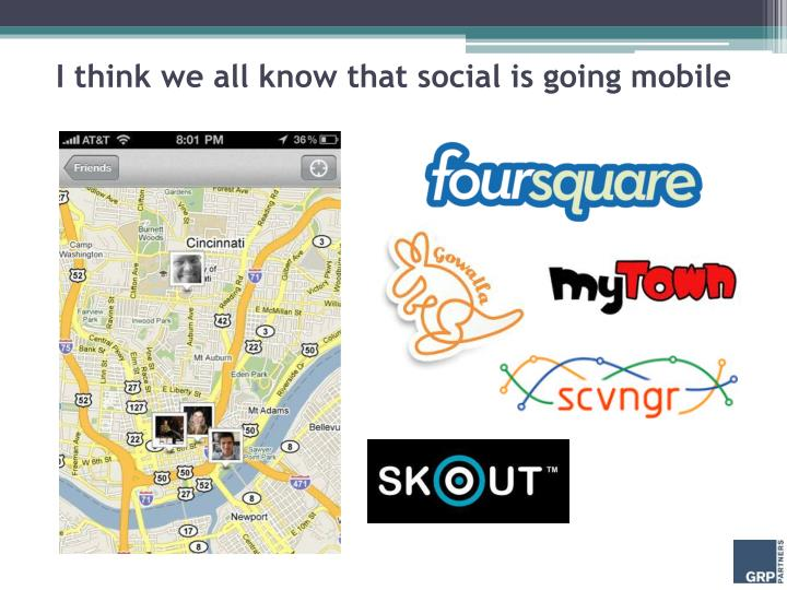 I think we all know that social is going mobile