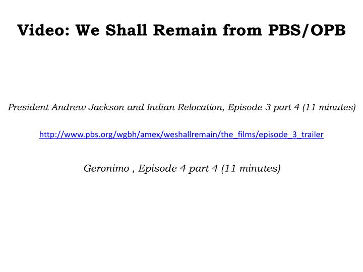 Video: We Shall Remain from PBS/OPB