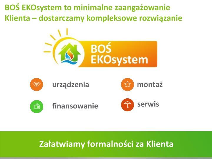 BOŚ EKOsystem to minimalne zaangażowanie Klienta – dostarczamy kompleksowe rozwiązanie