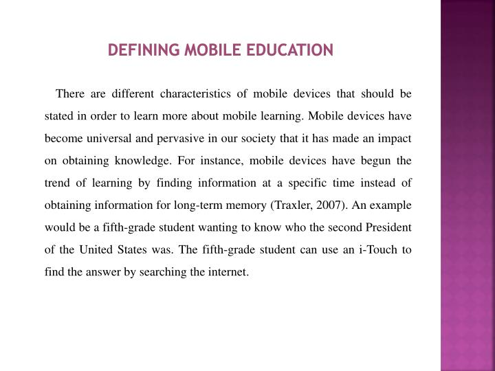 Defining Mobile Education