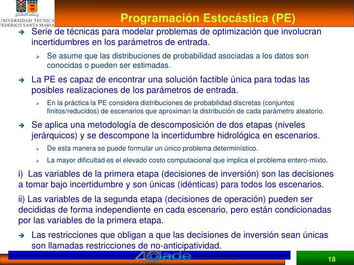 Programación Estocástica (PE