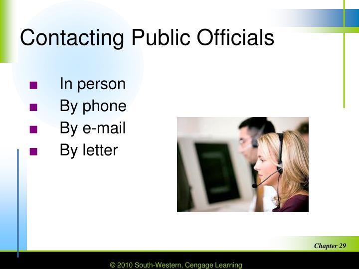 Contacting Public Officials