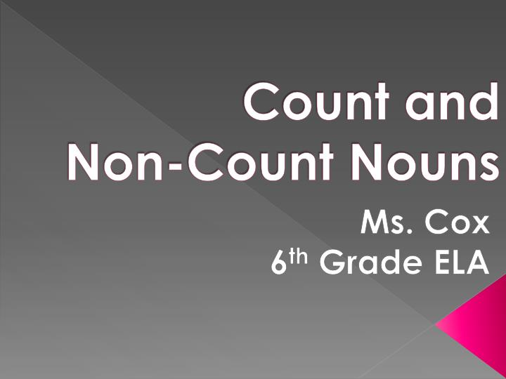count and non count nouns n.