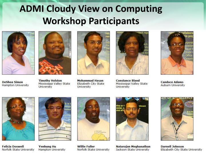 ADMI Cloudy View on Computing Workshop Participants