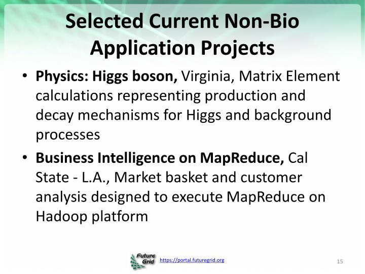 Selected Current Non-Bio Application Projects