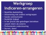 werkgroep indiceren arrangeren3