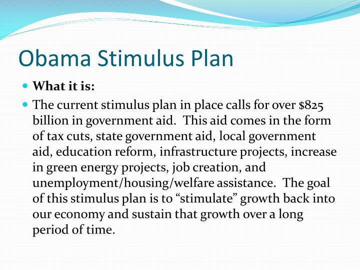 Obama stimulus plan