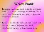 what is email