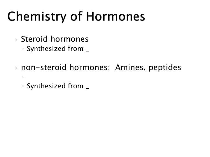 Chemistry of Hormones