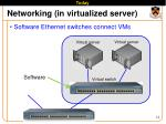 networking in virtualized server