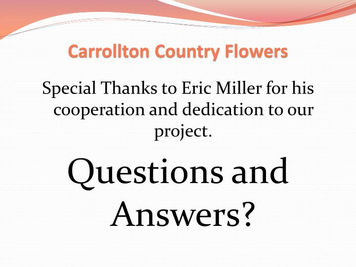 Carrollton Country Flowers