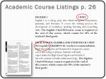 academic course listings p 26