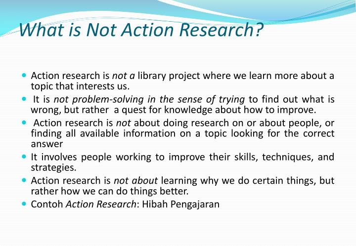 What is Not Action Research?