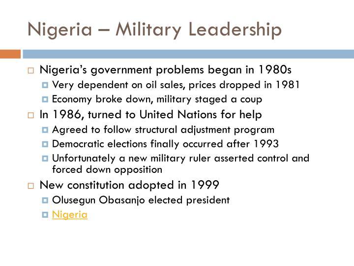 Nigeria – Military Leadership