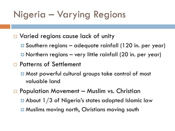 Nigeria – Varying Regions