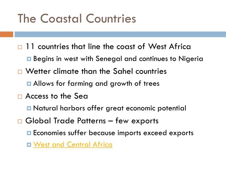 The coastal countries