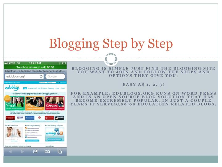 Blogging Step by Step