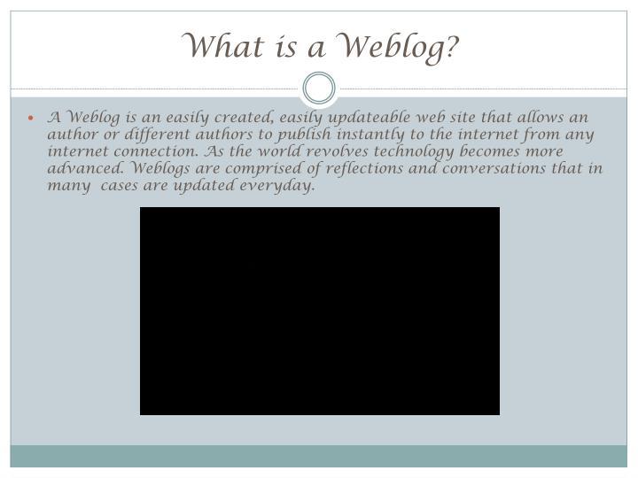 What is a weblog