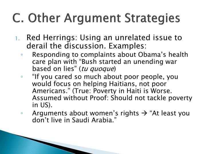 C. Other Argument Strategies