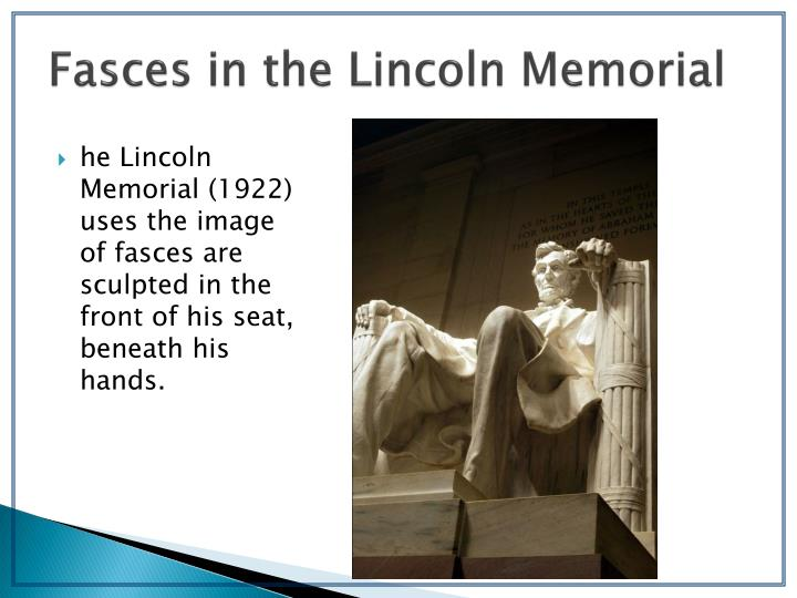 Fasces in the Lincoln Memorial