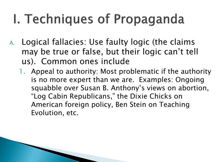 I techniques of propaganda
