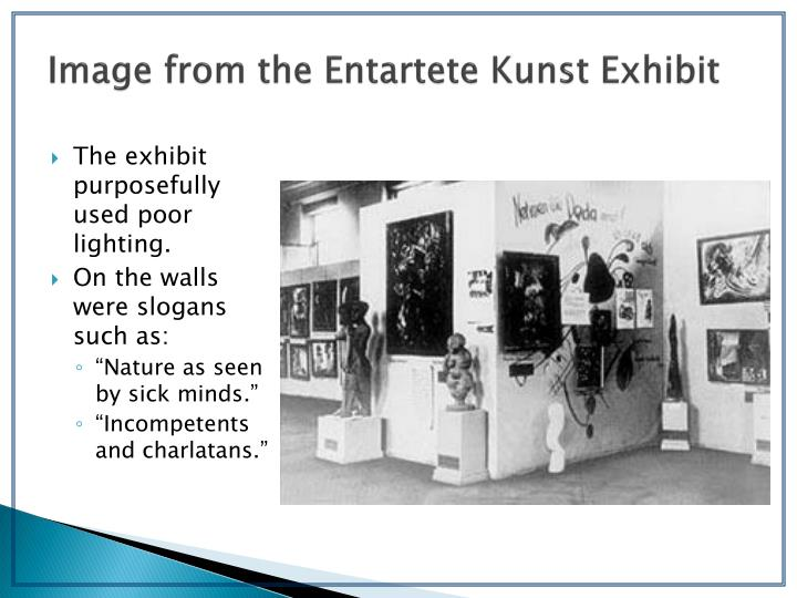 Image from the Entartete Kunst Exhibit