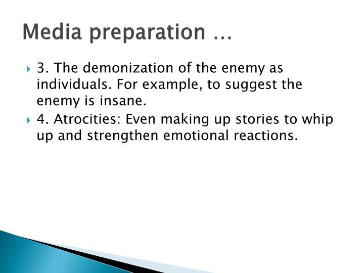 Media preparation …