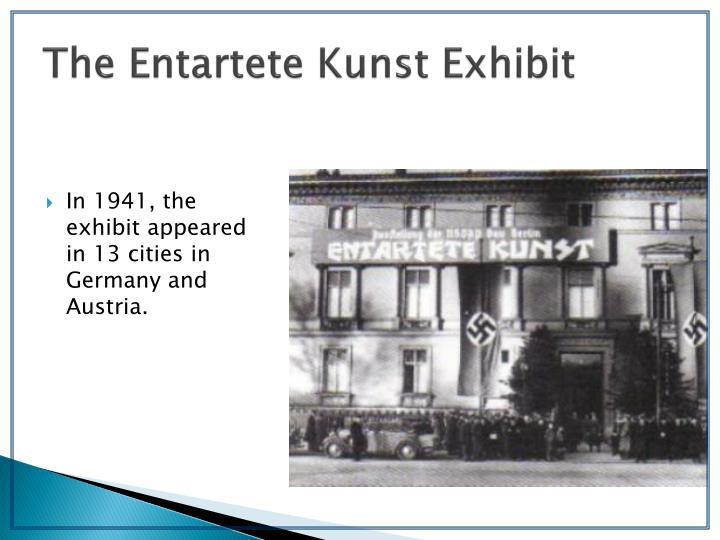 The Entartete Kunst Exhibit