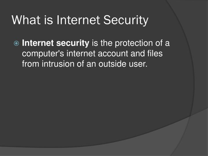 What is internet security