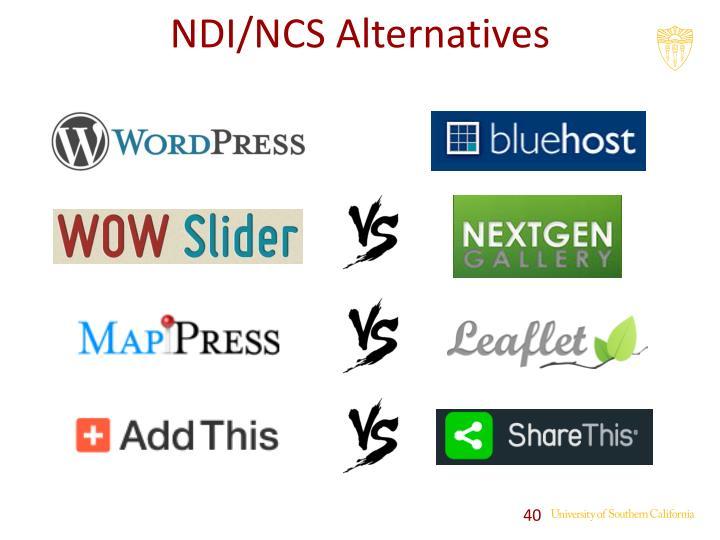 NDI/NCS Alternatives