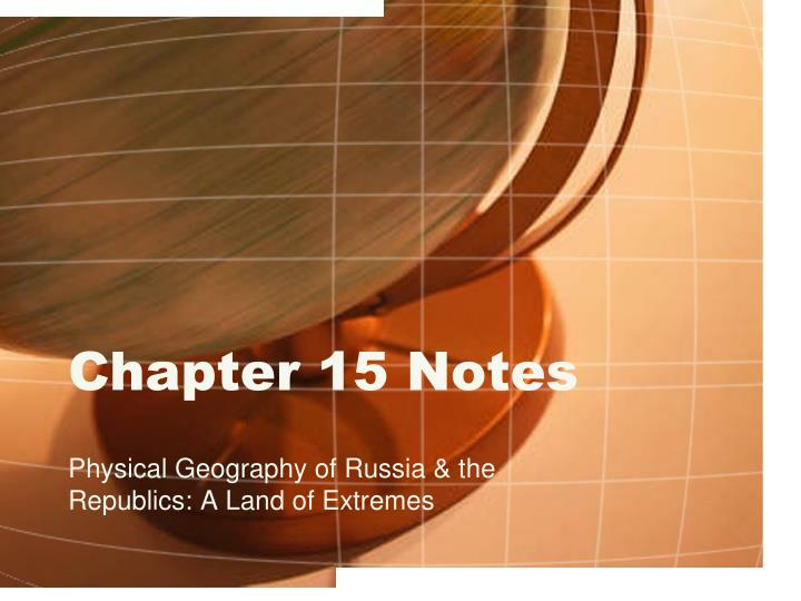 chapter 15 notes n.