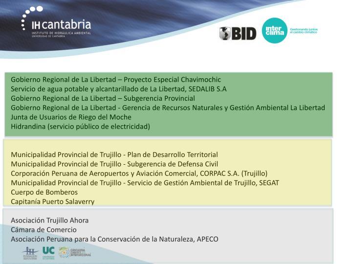 Gobierno Regional de La Libertad – Proyecto Especial