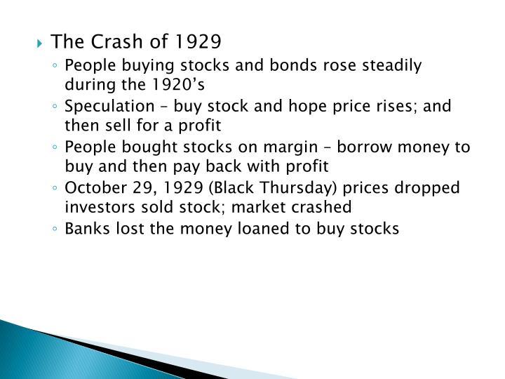 The Crash of 1929