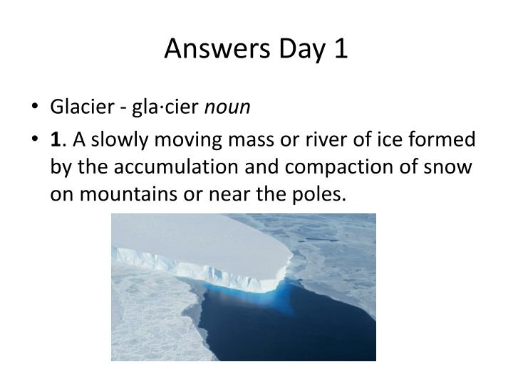 Answers Day 1
