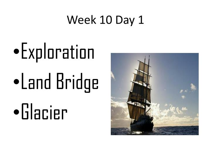 Week 10 day 1