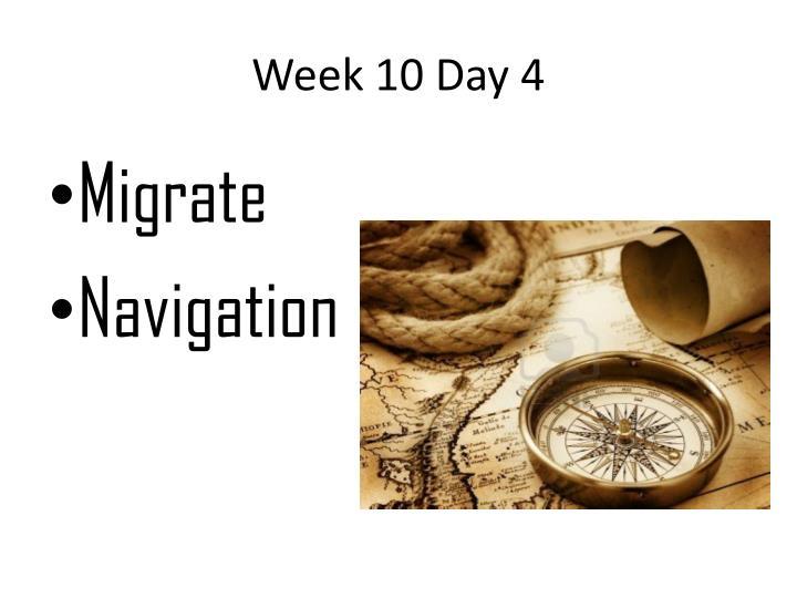 Week 10 Day 4