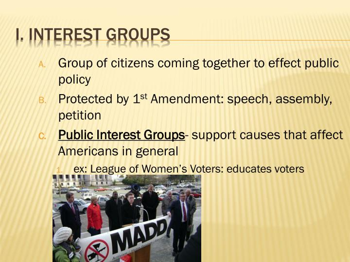 Group of citizens coming together to effect public policy