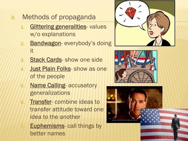 Methods of propaganda