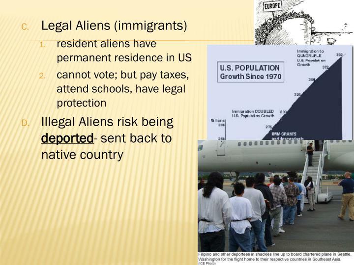 Legal Aliens (immigrants)