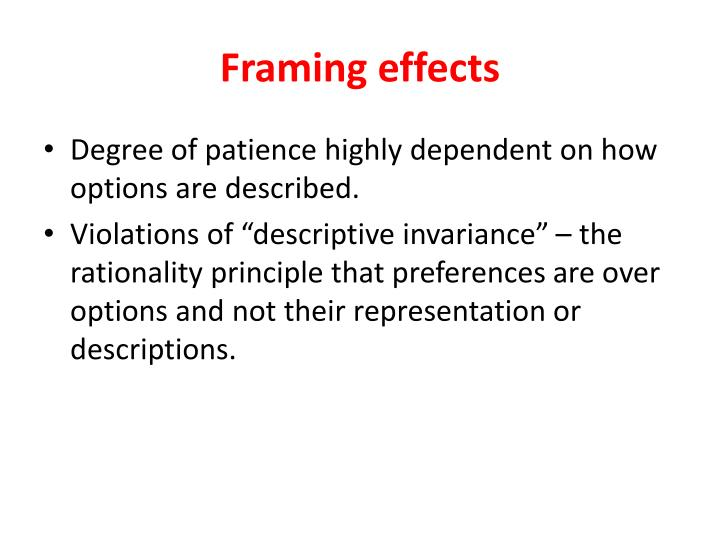 PPT - Intertemporal choice Old results and new results PowerPoint ...