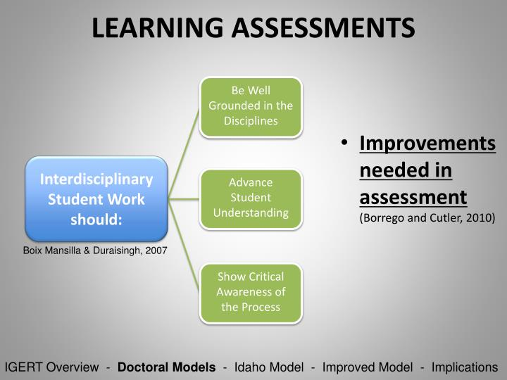 LEARNING ASSESSMENTS