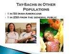 tay sachs in o ther populations