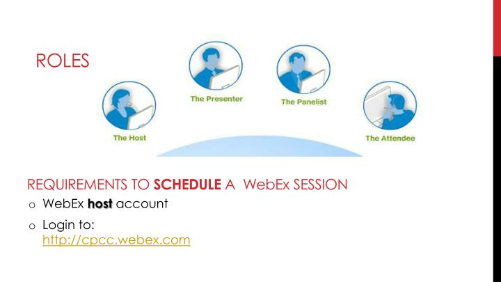 Requirements to schedule a webex session