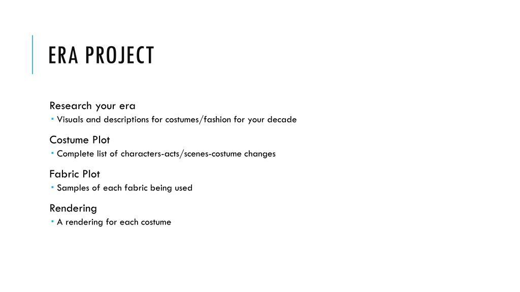 PPT - Costume Design Elements PowerPoint Presentation, free