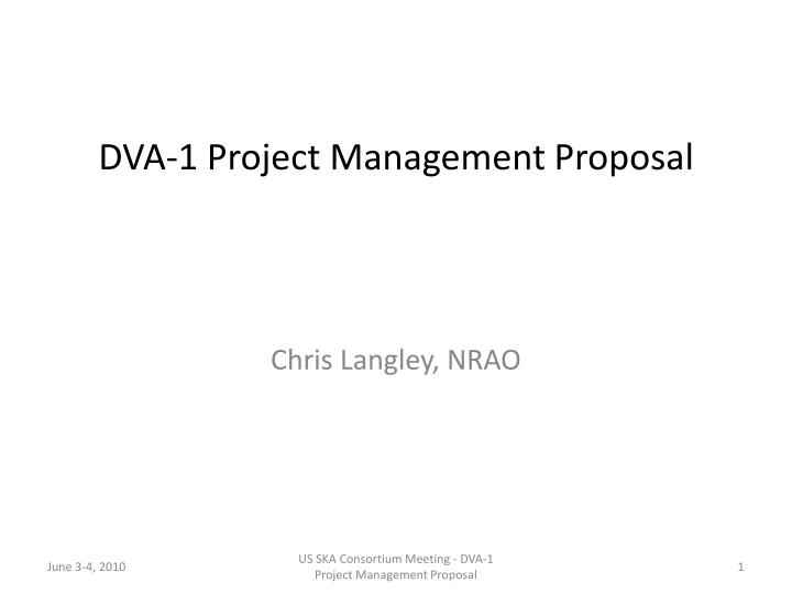 Ppt  Dva Project Management Proposal Powerpoint Presentation  Id