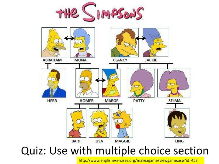 Quiz: Use with multiple choice section