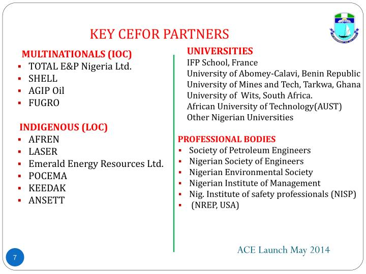 KEY CEFOR PARTNERS