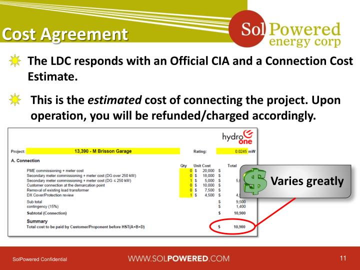 Cost Agreement