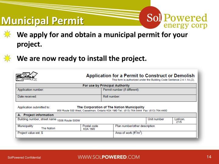Municipal Permit